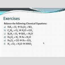 How To Balance Chemical Equations Youtube