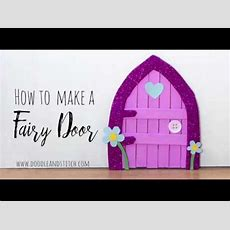 How To Make A Fairy Door Diy Craft Out Of Lolly Sticks Youtube