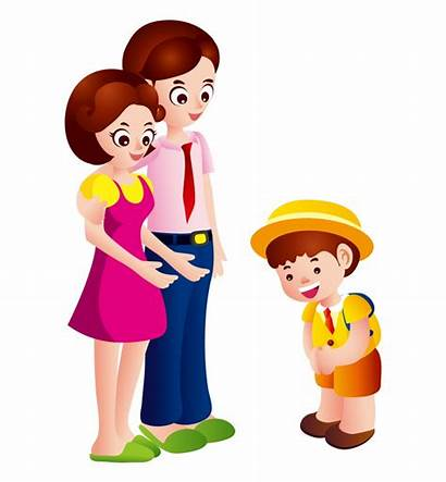 Parents Clipart Parent Child Saying Goodbye Say
