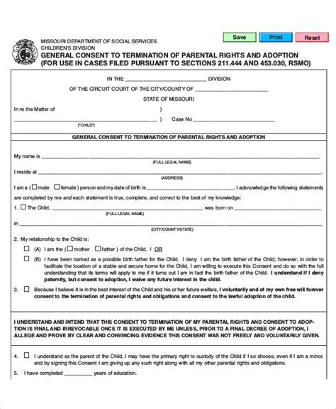 sle parental release form 10 exles in word pdf