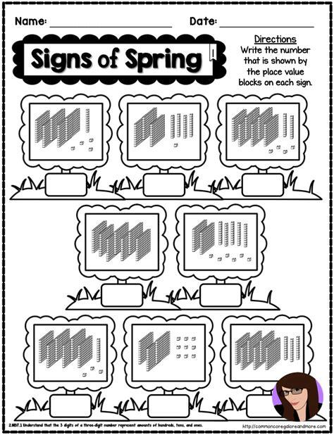 spring math printables beth kelly