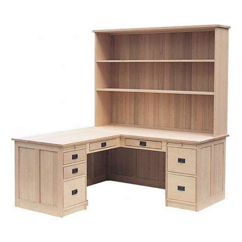 solid wood l shaped desk mission l shaped desk with hutch lloyd 39 s mennonite