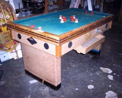 vintage bumper pool table antique coin operated bumper pool table by champion