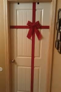Budget Christmas Door Decorations
