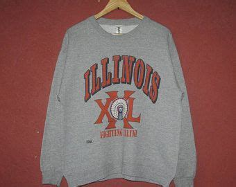 vintage university  illinois fighting illini  grey