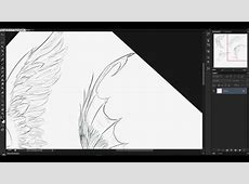 Como dibujar alas How to draw wings speed drawing