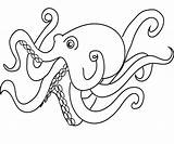 Octopus Coloring Squid Printable Cartoon Colouring Animal Timeless Miracle Sea Adults Pencil Ocean Preschoolers Adult Popular Library Clipart Template Octopuses sketch template