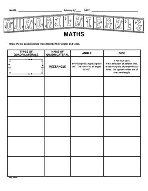 Draw The Types Of Quadrilaterals By Jinkydabon  Teaching Resources Tes