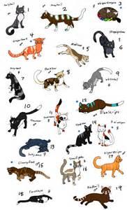 warrior cats names warrior names images