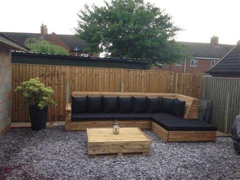 diy wood l pallet l shaped sofa for patio