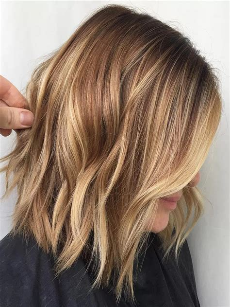 light brown shoulder length hair golden brown hair color ideas for medium length hairstyles