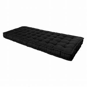 Futon 1 Place : matelas futon noir 90 x 190 cm achat vente matelas cdiscount ~ Teatrodelosmanantiales.com Idées de Décoration