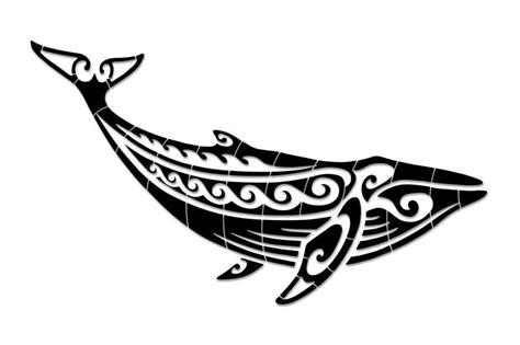 porcelain tribal humpback whale large black