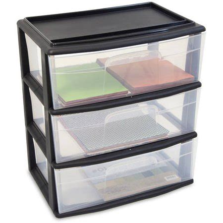 walmart storage drawers homz large 3 drawer wide cart colors walmart