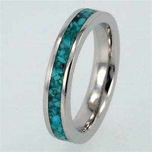 womens palladium ring with turquoise stone inlay jewelry With womens turquoise wedding rings