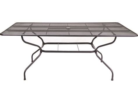 sunvilla steel mesh 75 x 42 rectangular mesh table in