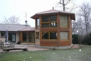 exemple d39agrandissement pour une creation de maison bois With creer plan de maison 11 exemples de menuiserie 2009
