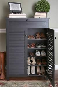 Meuble Chaussure Design : meuble chaussure gris ikea ~ Teatrodelosmanantiales.com Idées de Décoration