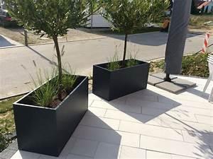 Pflanztröge Aus Beton : anthraziter pflanztrog im einsatz pflanzkuebel ~ Sanjose-hotels-ca.com Haus und Dekorationen