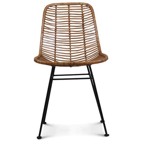 chaise design metal noir chaise design metal et rotin malaka demeure et jardin