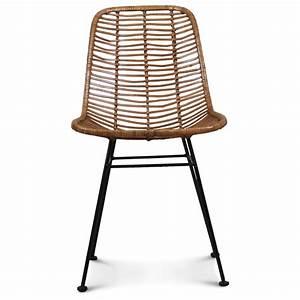 Chaise Design Metal : chaise design metal et rotin malaka demeure et jardin ~ Teatrodelosmanantiales.com Idées de Décoration