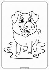 Pig Coloring Printable Tweet Whatsapp sketch template