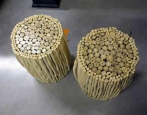 Petit Tabouret Bois : tabouret en bois h 46 cm ~ Teatrodelosmanantiales.com Idées de Décoration