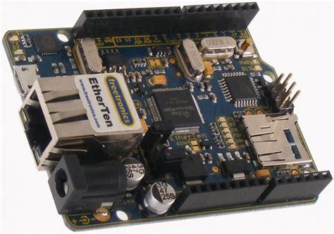 Freetronics Etherten Arduino Compatible With Onboard