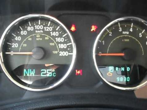 Jeep Dash Lights Meaning by Resetting Oil Change Light Message 2008 2012 Jeep Wrangler