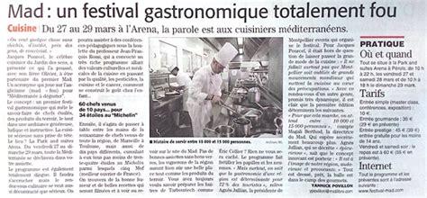 mad鑽e cuisine le mad à montpellier présenté à la presse 1 er festival de cuisine méditerranéenne chefs pourcel