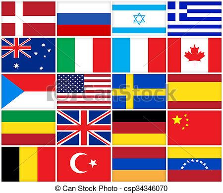 flags   countries collage