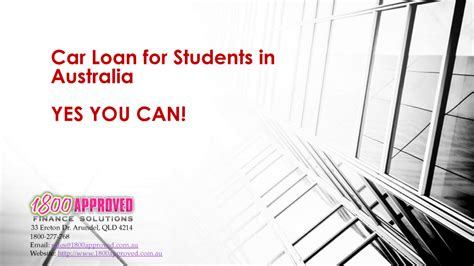 Car Loan For Students In Australia |authorstream