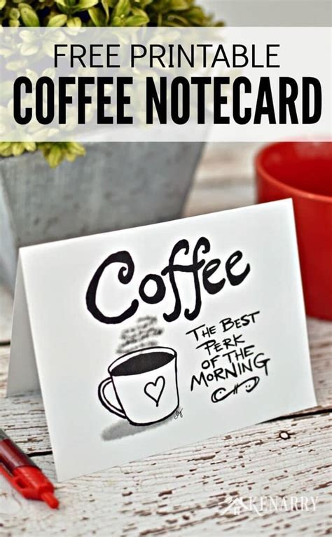 Create a perfect a2 sized coffee card with the honeybee stamps frappe shake card die set. Coffee Note Cards: Digital Printable Stationery Sets