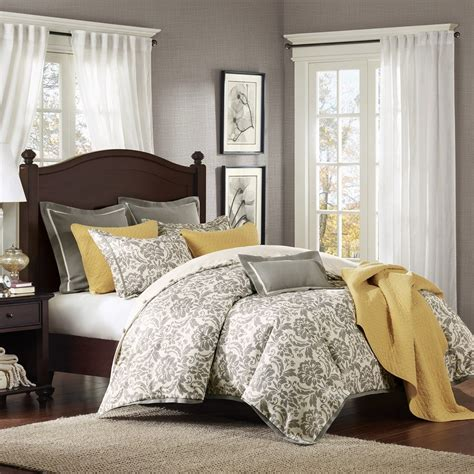 yellow and gray bedroom cool and grey and yellow bedroom for sweet home