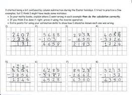 deliberate column subtraction mistakes teaching resources