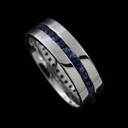 white gold wedding bands for white gold 39 s sapphire channel wedding ring 7mm orospot
