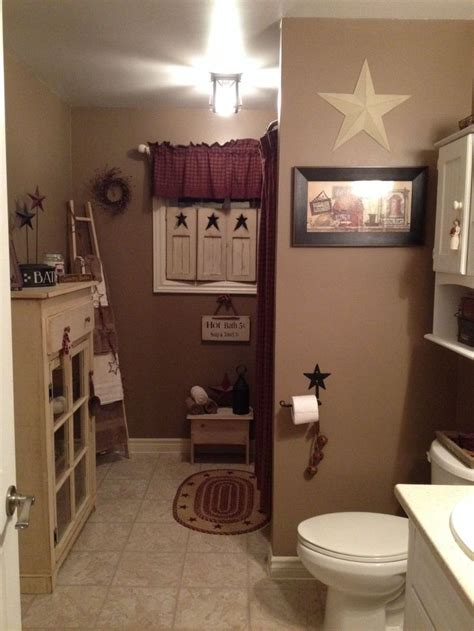 Country Bathroom Decorating Ideas by Primitive Bathroom Home Decor Decorating Rustic