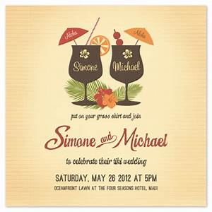 wedding invitations tiki luau at mintedcom With minted tropical wedding invitations