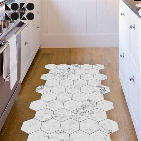 azulejos hexagonales de marmol blanco vinilo  suelos