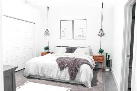 urban industrial style loft apartment master bedroom