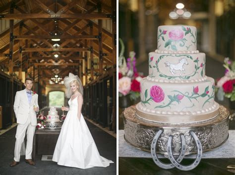 kentucky derby themed wedding southern bride groom