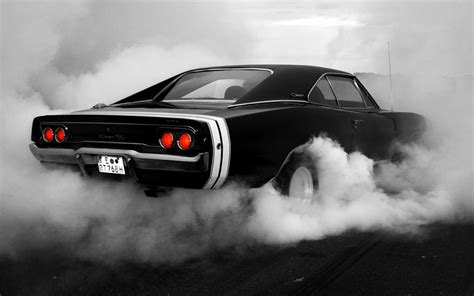 Muscle, Cars, 1969, Monochrome, Dodge, Charger, Rt
