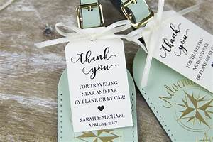 Thank you tag wedding favor tag luggage favor tag for Wedding favor luggage tags