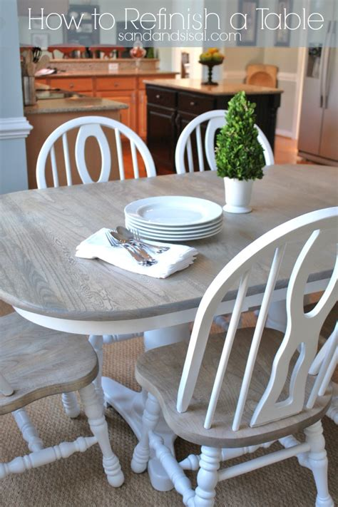 sanding and staining wood table how to refinish a table sand and sisal