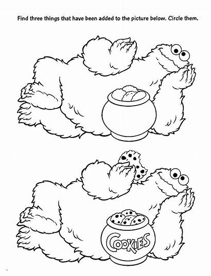 Sesame Street Coloring Pages Worksheet Printable Christmas