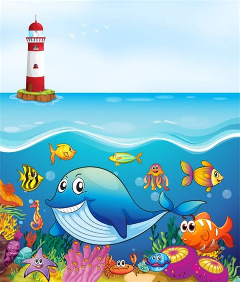 whale friends   sea wall mural wallpaper
