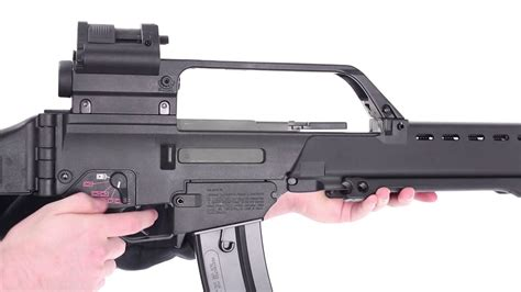 hk  airsoft rifle review  ares youtube