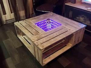 Table Basse Palettes : table basse palette avec lumi re led furniture ~ Melissatoandfro.com Idées de Décoration