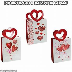 Pochette Pour Sac : pochettes cadeau sac pochette coeur pour cadeau pas cher ~ Teatrodelosmanantiales.com Idées de Décoration