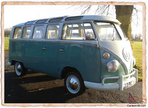 1963 Vw Volkswagen Type 2 Splitscreen 21 Window Samba